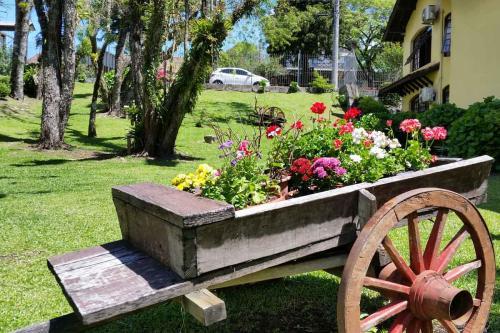 Flores e jardins pousada em Canela